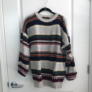 Stripped Dad Sweater
